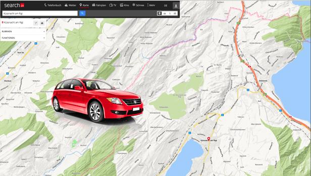 Der Routenplaner ist neu in die Karte integriert
