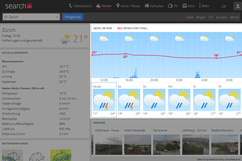 Bessere Wetterprognosen für die folgenden Tage