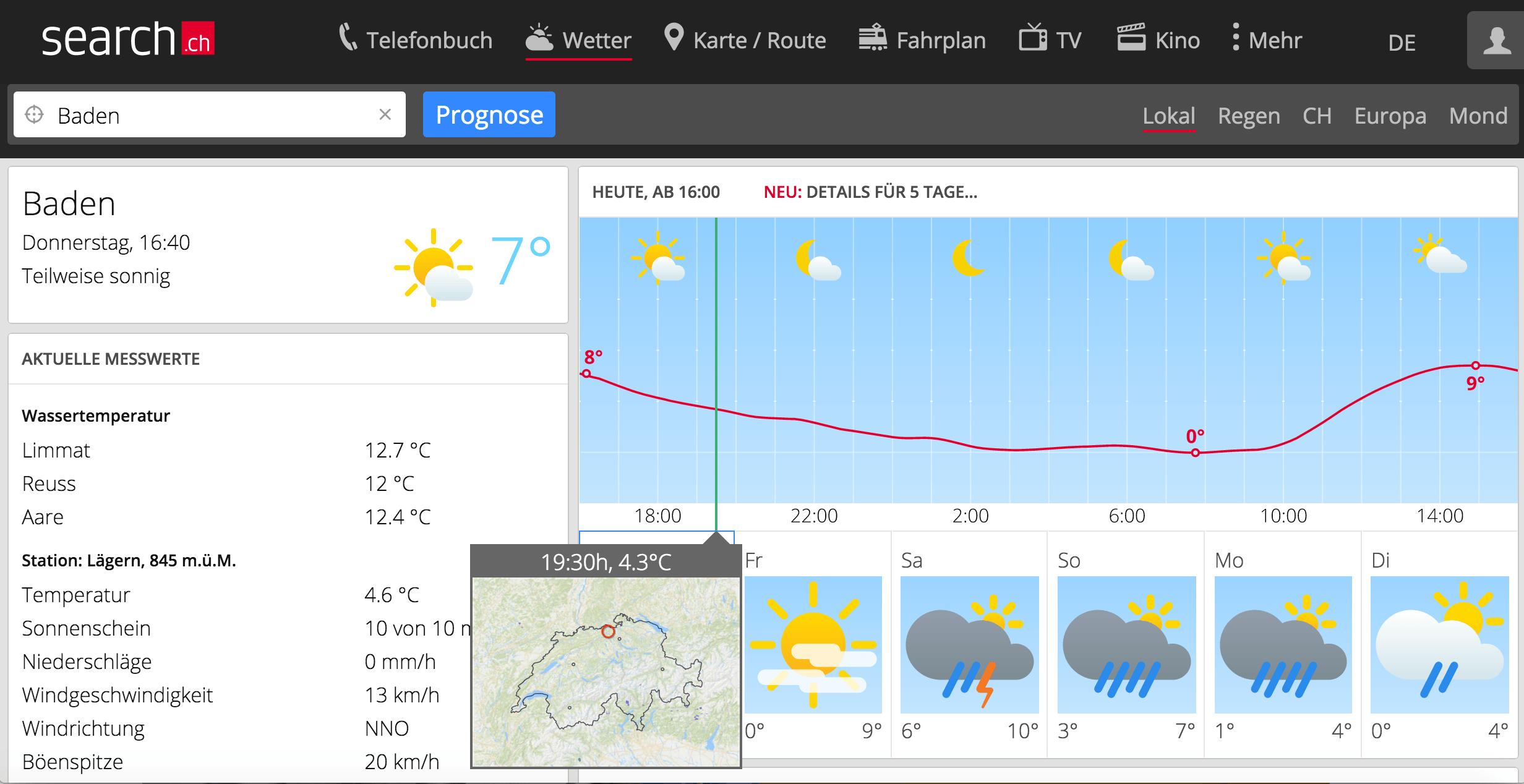 Wetter Karte