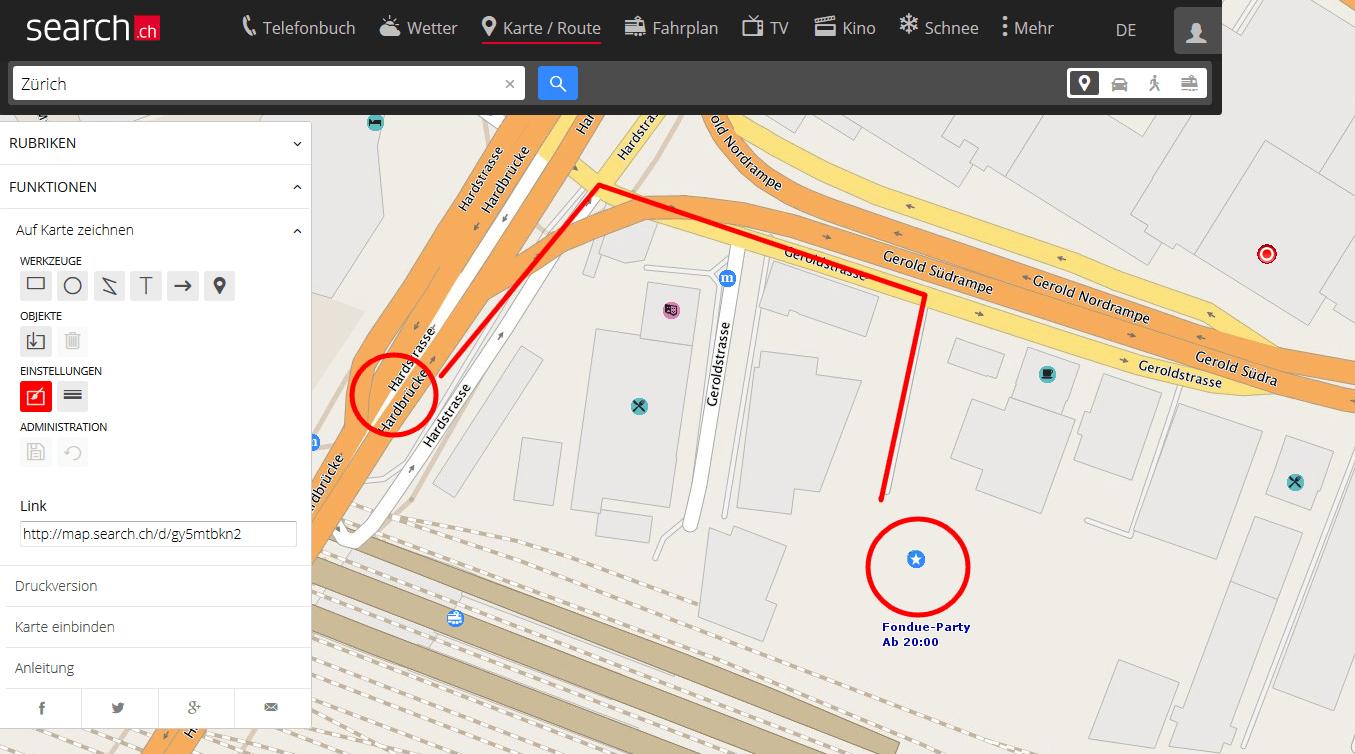 Zeichnen auf Karte im neuen Design: Anlass organisieren, Location skizzieren, sharen!