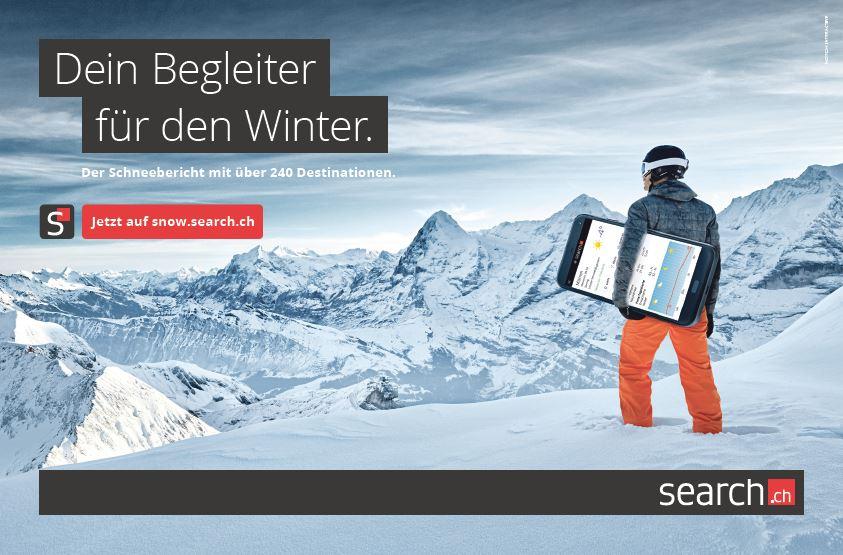 Wo hat es Schnee? Der Schnee-Bericht von search.ch zeigt's dir!