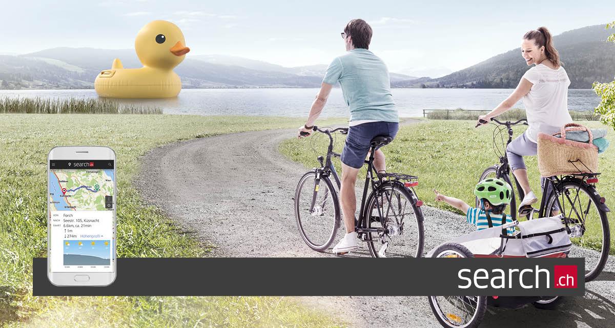 Le planificateur d'itinéraire à vélo est en ligne! velo.search.ch
