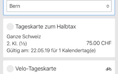 Novità: compra il tuo biglietto per i mezzi pubblici su search.ch o nell'app