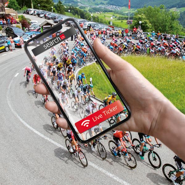 Erlebe die Tour de Suisse 2021 mit search.ch